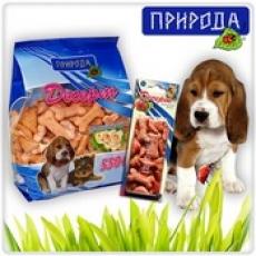 """""""Говядина-бекон"""" 70 гр - десерт для собак всех пород в виде печенья."""