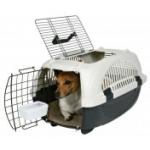 "Trixie Переноска для собак ""Elba I"" (2 дверцы), антрацит/беж"
