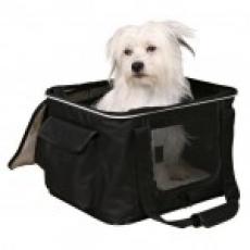 "Trixie Сумка-переноска для собак ""Mila"" 40x27x32см чёрный/серый"