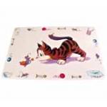 Коврик под миску для еды кошка Трикси \код 24544\