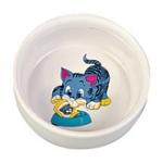 Миска керамика д/кошек 0.3л Трикси \код 4009\