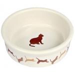 Миска керамика с кошкой Трикси \код 4019\