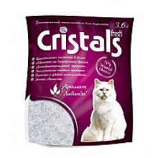 Cristals Fresh (Кристал Фреш) селикагелевый наполнитель для кошачьего туалета с лавандой 4,8л              .