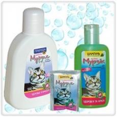 Шампунь «МУРЗИК» от блох и клещей для короткошерстных кошек