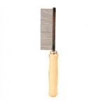Расческа частая с деревянной ручкой 17см Трикси \код 2390\